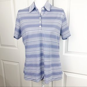 Nike Golf Fit Dry Striped Short Sleeve Polo Shirt